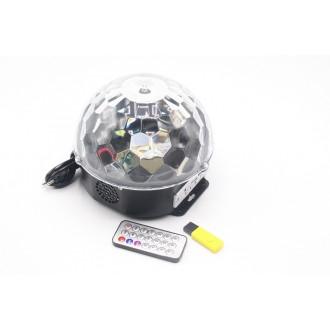 Լույս փոքր դիսկո գունդ + վահանակ /Disco magic ball light MP3 LIGHT,CLR BOX