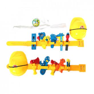 Խաղ մանկական գործիքների հավաքածու, գլխարկ գոտիով փոքր 2ձև