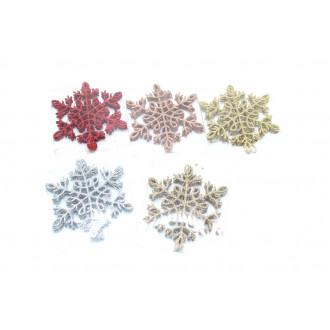 Ամանորի զարդ դեկոր փոքր 5հ-ոց 12սմ փաթիլ ձյուն