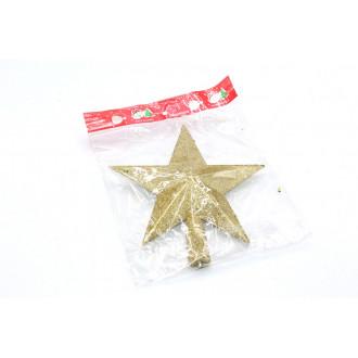 Ամանորի զարդ աստղ 1հ-ոց 20սմ. ոսկեգույն