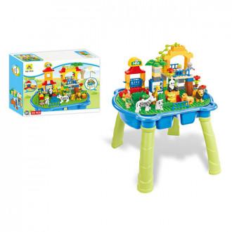 Խաղ սեղանիկ հավաքածույով լեգո կառուցողական, տուփով մեծ