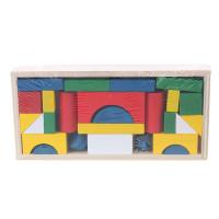 Փայտե ուսուցողական խաղալիք խորանարդիկներով փոքր լեգո