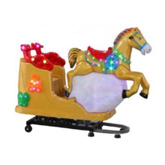 Ատրակցիոն մանկական ճոճվող 220v ձի կառքի տեսքով