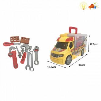 Մեքենա բեռնատար գործիքների հավաքածույով
