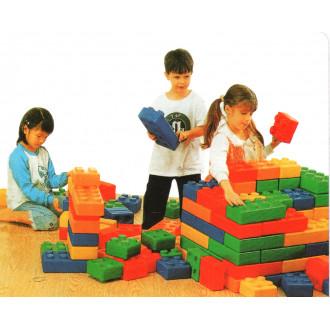 Լեգո խորանարդիկ մեծ կտորներով