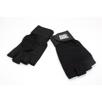 Մարզման ձեռնոց ֆիթնեսի կտորե սև, HARD TOUCH / S-M-L-XL