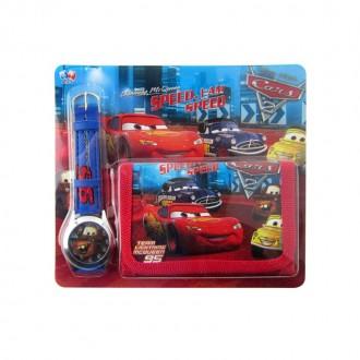 էլեկտրական ժամացույց + դրամապանակ մանկական, Cars