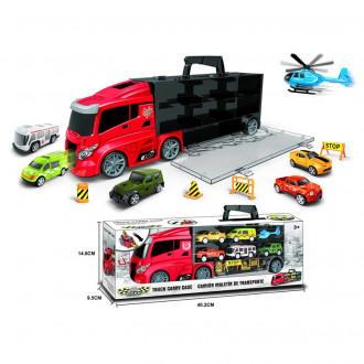 Մեքենա TRUCK մեքենաների և ուղղաթիռի հավաքածույով