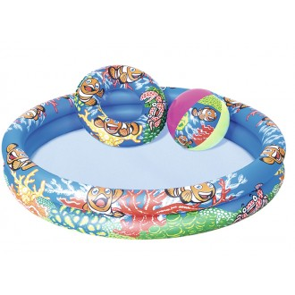 Փչովի լողավազան փոքր, օղակ + գնդակ, Bestway Φ1.22m x H20cm Play Pool Set 137 Л КРУГ+ МЯЧ