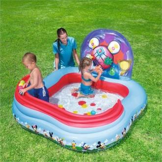 Փչովի լողավազան ջրաշխարհ Mickey, Bestway 1.57m x 1.57m x 94cm Gearwheel Play Center
