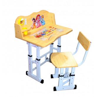 Փայտե գրասեղան աթոռով Princessa