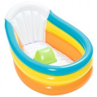 Փչովի լողավազան փոքր վաննա Bestway 76cm x 48cm x33cm Squeaky Clean Inflatable Baby Bath