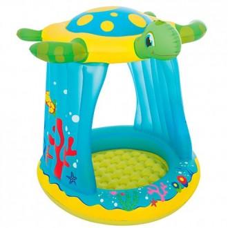 Փչովի լողավազան կրիա ծածկով Bestway 26 л 1.09m x 96cm x 1.04m Turtle Totz Play Pool