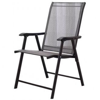Աթոռ մետաղյա հիմքով, պոլիմեռ ցանցե գործվածքով, հենակով