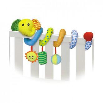 Փափուկ խաղալիք օրորոցի Baby spiral fun զսպանակ փղիկ