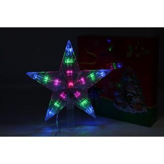 Լույս ամանորյա աստղ գագաթ լազերային