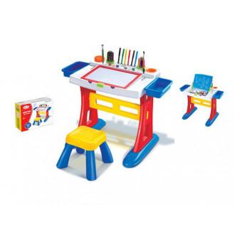 Մանկական գրատախտակի հավաքածու մեծ իր աթոռով