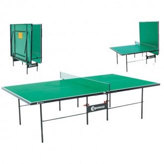 Թենիսի սեղան 16 մմ առանց անիվ / կանաչ