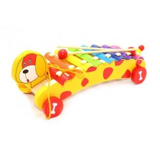 Փայտե խաղալիք, քսելոֆոն, շան և խլուրդի կերպարներով