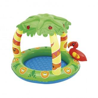 Փչովի լողավազան փոքր մանկական, ծածկով Bestway 99cm x 91cm x 71cm Friendly Jun Play Pool