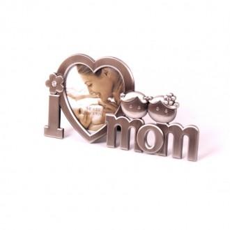 Նկարի շրջանակ փոքր մետաղե I love you Mom