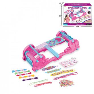 Խաղային ուլունքների հավաքածու մանկական, հյուսքի սարքով թևնոցի