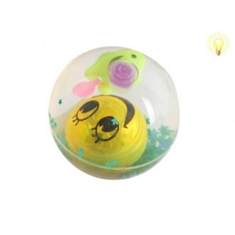 Խաղ գնդակ ռետինե, հեղուկ + ձուկ գնդակով 12հ-ոց Smile