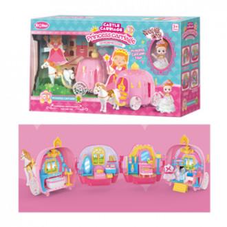 Խաղ ձի կարք բացվող, ննջարան, լոգարան հավաքածույով, Princess