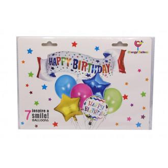 Փուչիկ հավաքածու Happy Birthday